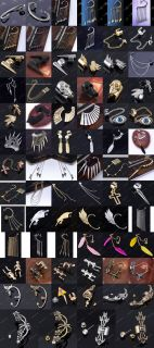 Punk Rock Temptation Metallic Dragon Ear Cuff Wrap Clip Earrings Hair Comb Hot