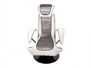 new lumisource boomchair stealth gaming chair silver movies sound
