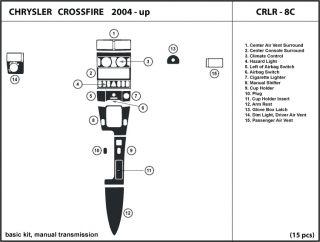 Chrysler Crossfire 2004 2005 2006 2007 2008 Manual Transmission Dash Kit Trim