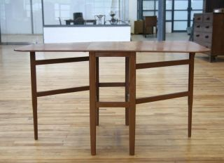 Retro Dining Table Folding Gateleg Mid Century Vintage 60s 70s