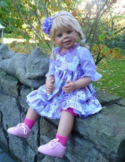 """Masterpiece Daddy's Little Girl Monika Levenig Doll 34"""" Blonde All Vinyl"""