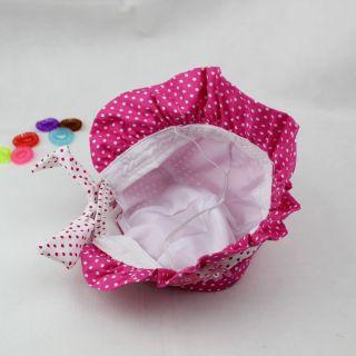 New Cute Baby Girls Sun Polka Dot Hearts Cotton Summer Hat Cap 3 24 Months Hot