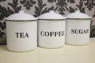 Cannister Sets Kitchen Storage Shabby Chic Cannisters Tea Sugar Coffee Set