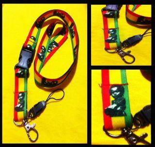 Ras Daniel Rasta Baby Rude Boy Red Gold Green 420 Reggae Music Keychain Necklace