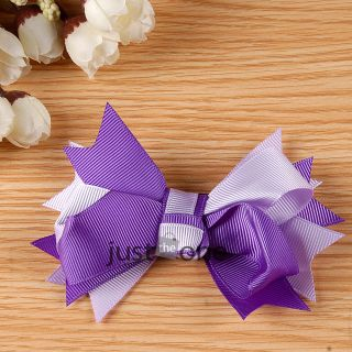 Cute Baby Girls Kids Princess Style Headwear Decor Bow Flower Hair Clip Hairpin