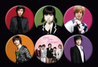 Boys Over Flowers F4 Korean Drama TV Lee MIN HO Kim Bum Buttons Pins Badges