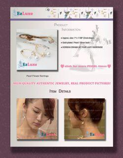 Korean Drama My Fair Lady Eun Hye Pearl Flower Earrings