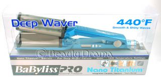 Babyliss Pro Nano Titanium Deep Waver Curling Iron Authentic with Serial Number