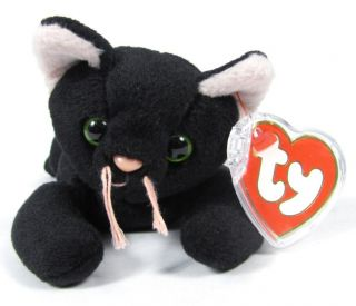 dd72ad7f39e ... Candy Spelling s Beanie Baby Zip Cat All Black 1st Gen Tush Tag 4004  1993 Ty ...