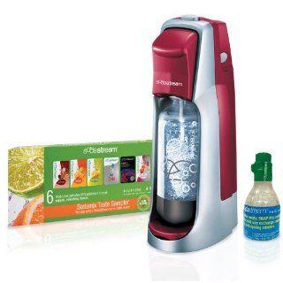 SodaStream Fountain Jet Home Soda Maker Starter Kit Cherry Red Brand New