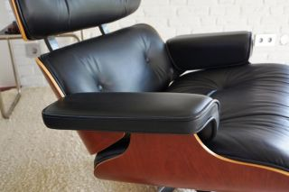 Original Vitra Charles Eames Lounge Chair Sessel Herman Miller Side Alu Ottomane