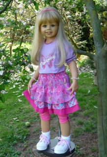 "Masterpiece Delaney Monika Levenig Doll 39"" Blonde All Vinyl 9 Joints"