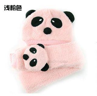 Fashion Baby Girlboy Love Toddler Beanie Scarf Panda Cartoon Cap Hat 1 5Y Infant
