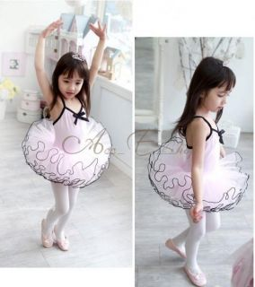 Girl Kid Ballet Dance Dress Party Tutu Skate Leotard Fairy Costume Age 3 7 Years
