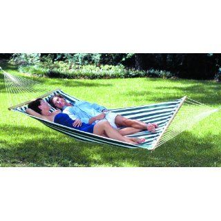 Texsport Lakeway 2 Person Cozy Quilted Cotton Fabric Hammock Sturdy Spreader Bar