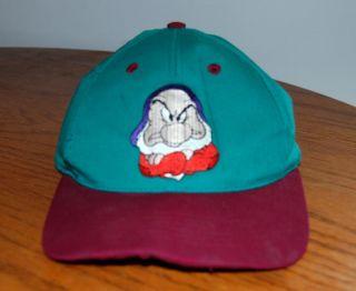 Disney Snow White Grumpy Baseball Cap Hat Adjustable Disneyana