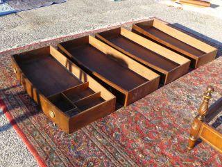 Antique Federal Mahogany Irwin Furniture Grand Rapids Low Chest Dresser