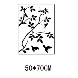 Bird on Tree Branch Silhouette Removable Wall Sticker Decal
