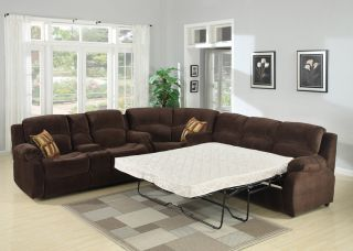 4pc Traditional Modern Sectional Recliner Fabric Sofa Bed Set AC Tra S1