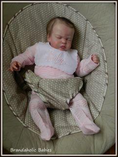 Brandaholic Babies Reborn Newborn Baby Girl Hattie by Cassie Peek