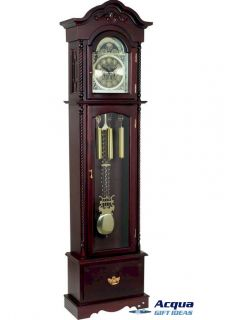 Grandfather Clock with Pull Out Drawer Winding Key 31 Day Movement in Cherry