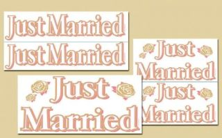 Just Married Auto Car Decorating Clings Wedding Supply