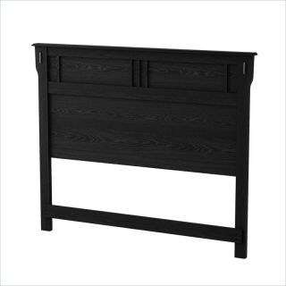 South Shore Tryon Full Queen Black Oak Headboard