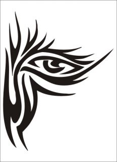 Eyes Airbrush Stencil Template DIY Paint Hobby Artwork School Party 028006Y 9