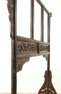 Antique Wood Towel Stand Quilt Rack Bath Holder Display