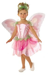 Girls Pink Fairy Pixie Angel Fancy Dress Costume Toddler