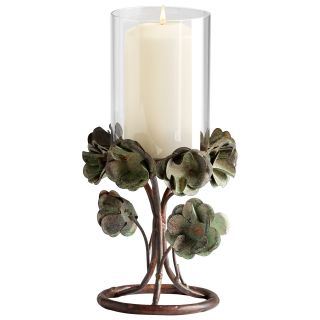Cyan Design 05323 Small Leigh Green Rose Candleholder