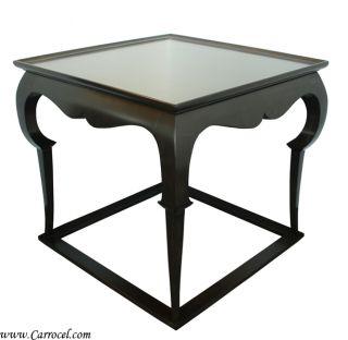 Custom Square Top Art Deco Console End Sofa Table