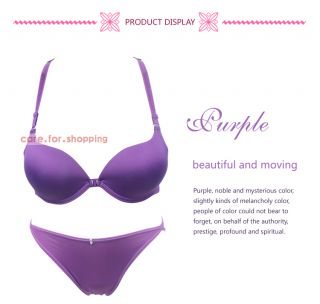 1 Set New Sexy Front Closure Push Up Underwire Bra Set Size 32A 34A 36A Panty