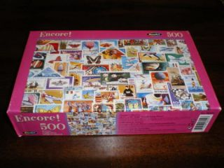 Rose Art Stamp Collection Jigsaw Puzzle 500pc New SEALED World International