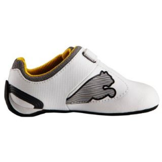 New Puma Ferrari Future Cat M2 White Boys Formula 1 Shoes Junior Kids Trainer UK
