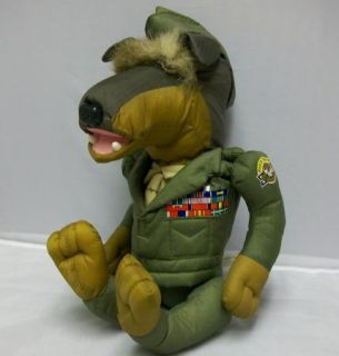 Vintage Matchbox Pooch Troop Ollie Doberman RARE 1980's Stuffed Animal Dog