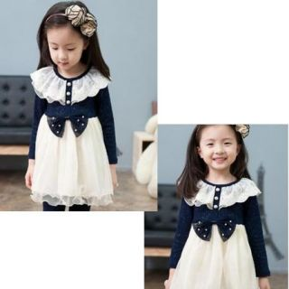Toddlers Kids Girls Princess Clothes Long Sleeve 2 7Y Tulle Tutu Dress Pink