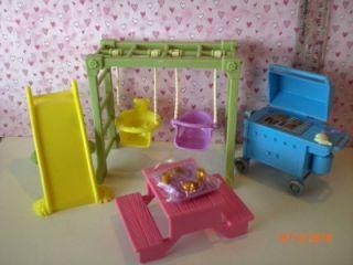 Fisher Price Loving Family Dollhouse Backyard Fun Set NIP Lot