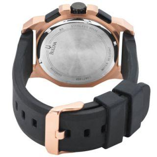 Bulova 98B118 Mens Marine Star Black Dial Watch