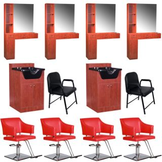 Beauty Salon Equipment Styling Station Chair Trolley Shampoo Bowl Package EB 65