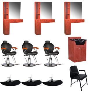 Beauty Salon Equipment Styling Station Chair Mat Trolley Shampoo Cabinet EB 66