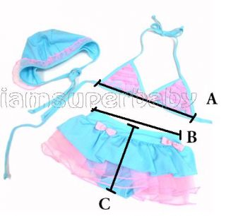 Sweet Baby Toddler Kid Girl Bikini Set Swimsuit Swimwear Bathers Swimmers 1 5 5Y