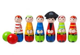 Orange Tree Toys Pirate Skittles Wooden Childrens Garden Game Present Gift Boy