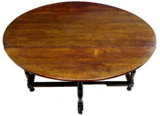 19th Century Antique Oak English Gateleg Table Seats 12
