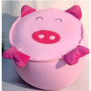 Cute Pink Pig Inflatable Stool Pouffe Pouf Chair Seat