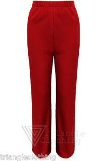 Ladies Womens Stretch Straight Leg Palazzo Pants Trousers Light Plus Size Summer