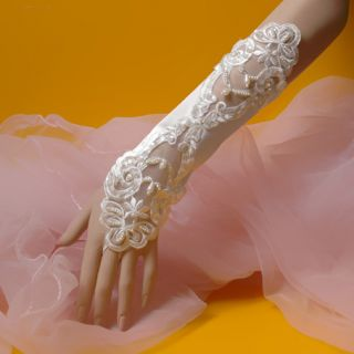 New Wedding Party Supply Apparel Evening Dress Fingerless Gloves Bride Married