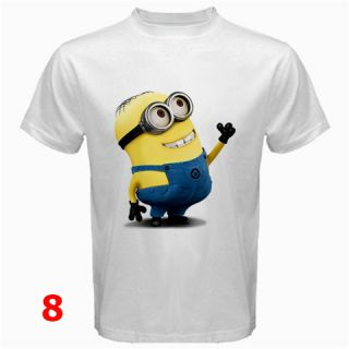 Cartoon Despicable Me Minions Agnes Unicorn White T Shirt Short Sleeve