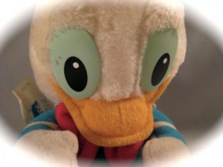Vintage 1984 Playskool Disney Babies Donald Duck Plush Toy 7""