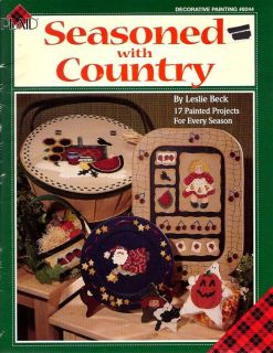 Tole Painting Pattern Book Seasoned with Country by Leslie Beck